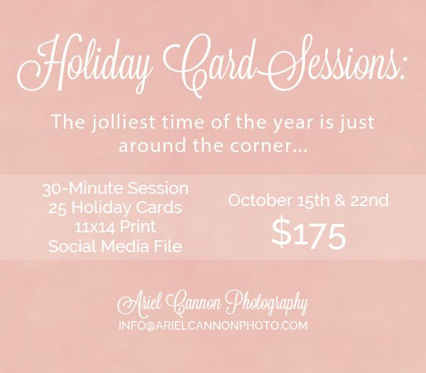 Holiday Card Limited Sessions