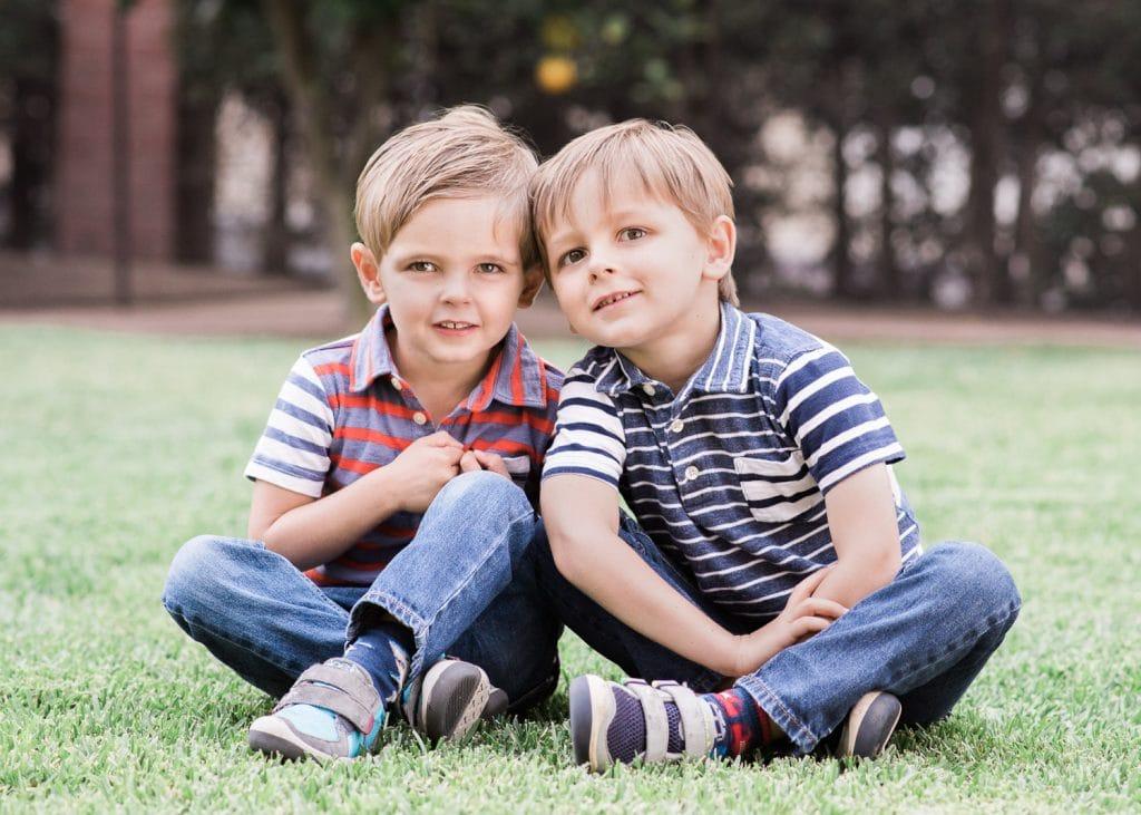 Family photo twin boys