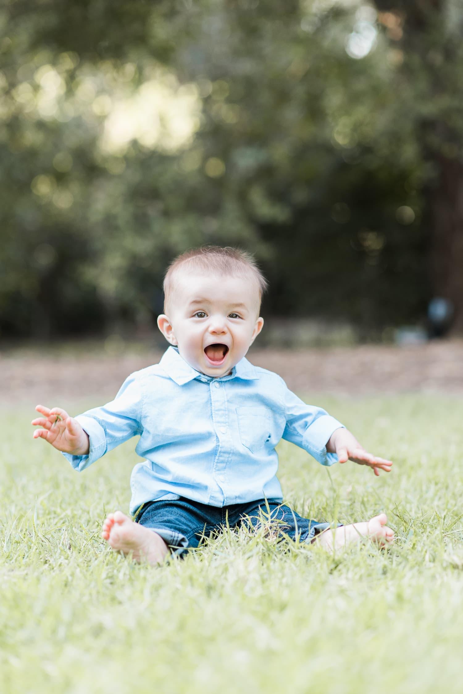 Portrait baby boy