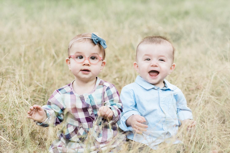 Twin baby portrait