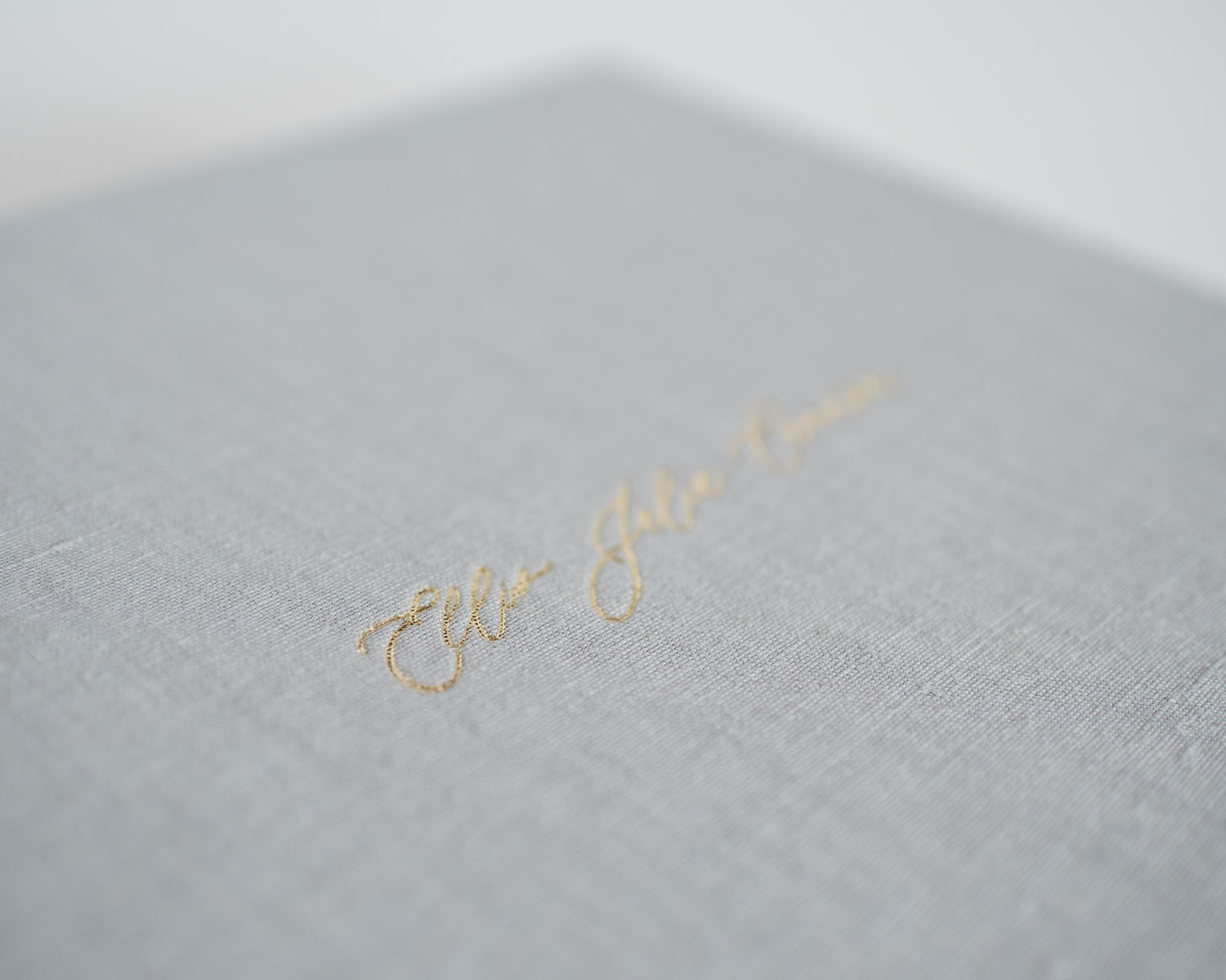Gold foil embossing on matted print box